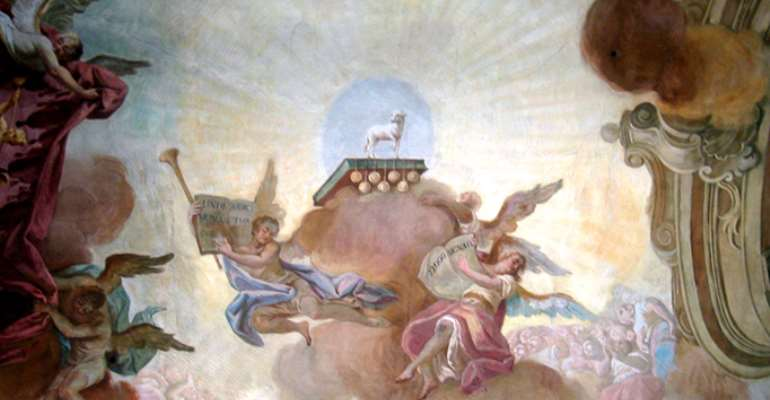 A Sacrificial Lamb And Two Saints