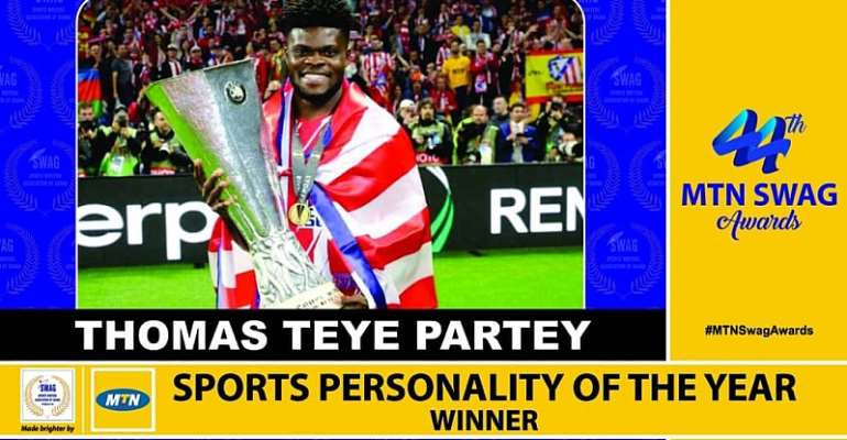 Thomas Partey Wins SWAG Sports Personality Of The Year