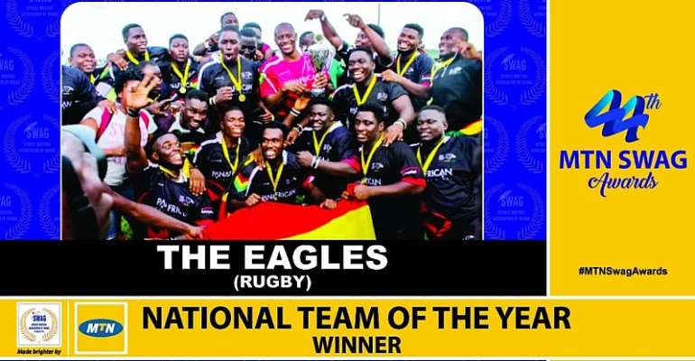 Ghana Rugby Eagles Crowned SWAG National Team Of 2018