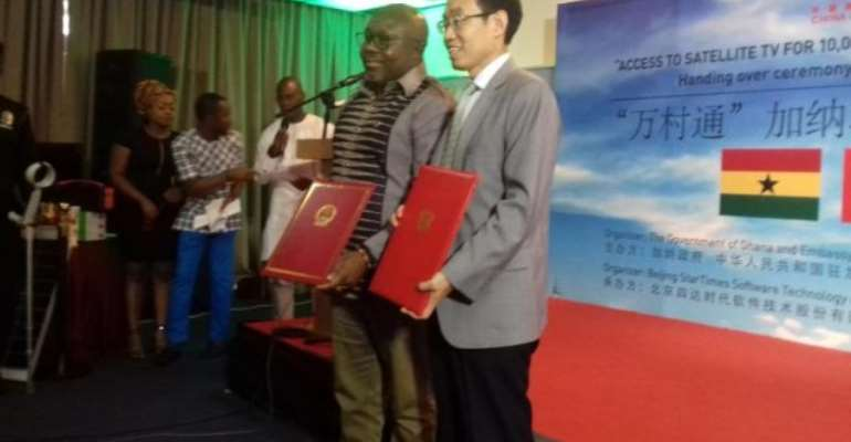 China Gives 300 Satellite TV To Ghana