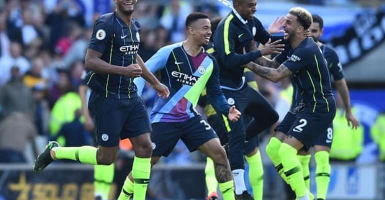Man City Retain Premier League Title After Scare At Brighton