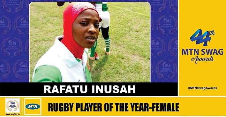 Rugby Captain Rafatu Inusah Dedicates SWAG Award To Players