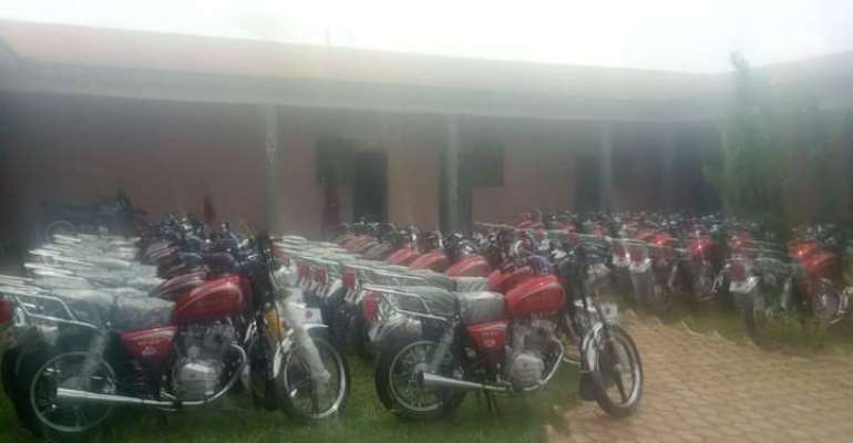 Assembly Members Receive Motorbikes From Sunyani West DCE