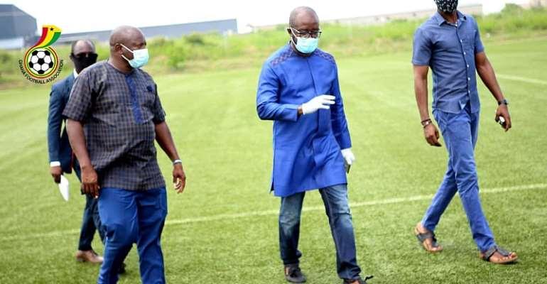 Coronavirus: GFA President Tours Ghanaman Facility