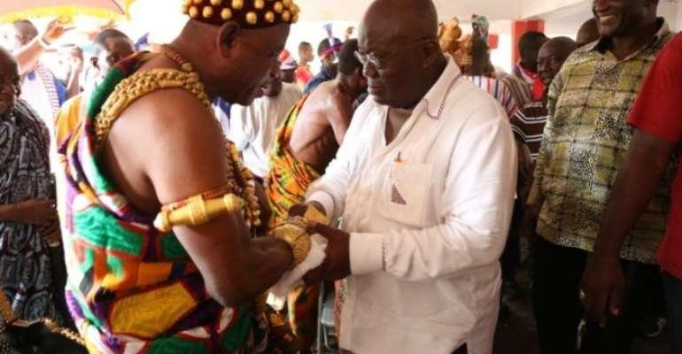 Jasikan Chief with Nana Addo