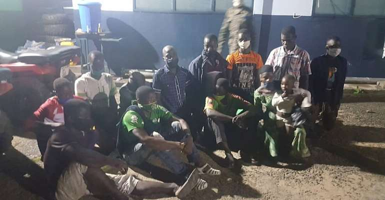W/R: 36 Persons Arrested For Sneaking Into Ghana