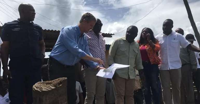 Transport Minister Inspects Site For Construction Of Fishing Harbour At Axim