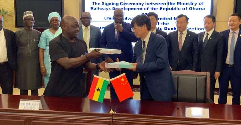 Ghana, China Railway Wuju Sign Pact For The US$500million New Standard Gauge Western Line