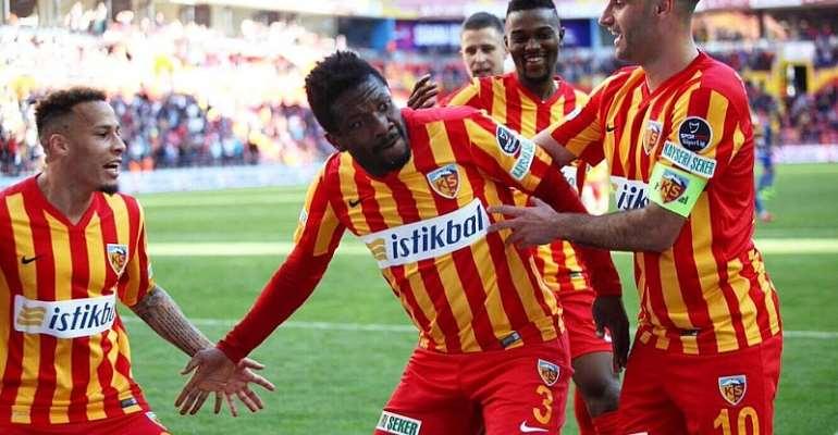 Injury-Prone Asamoah Gyan To Get Contract Extension At Kayserispor