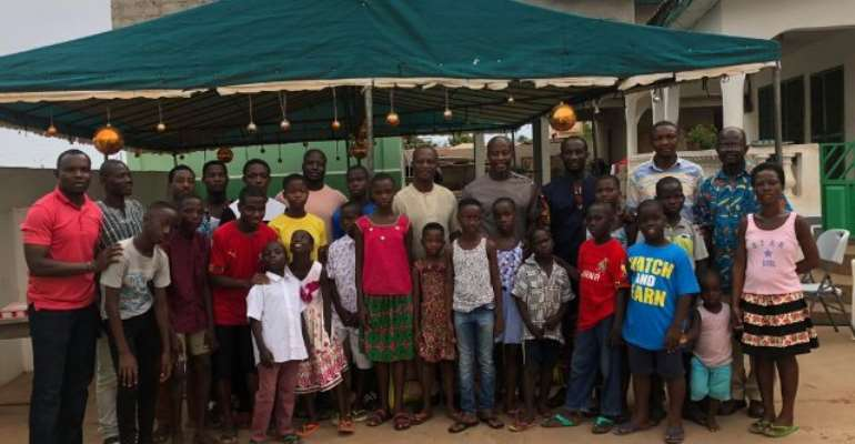 AFCON 2019: Black Stars Technical Team Makes Donation To Teshie Children's Home