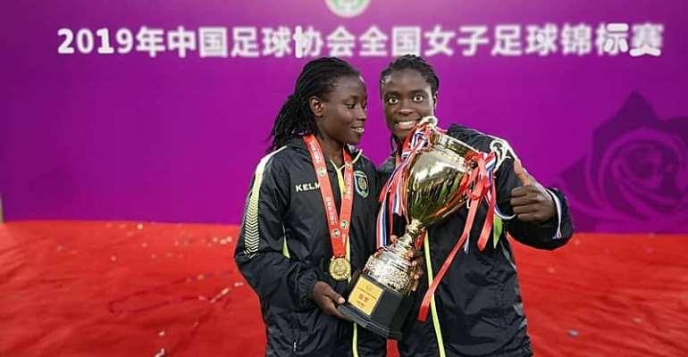 Elizabeth Addo Wins First Trophy With Jiangsu Suning