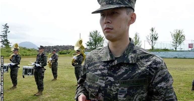 Son excelled in shooting skills and was the top performer among 157 trainees during his military service