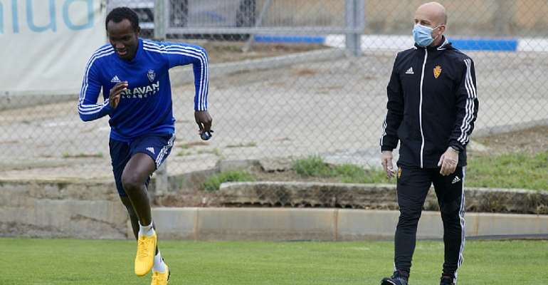 Raphael Dwamena Returns To Real Zaragoza Training After Seven Months Of No Action