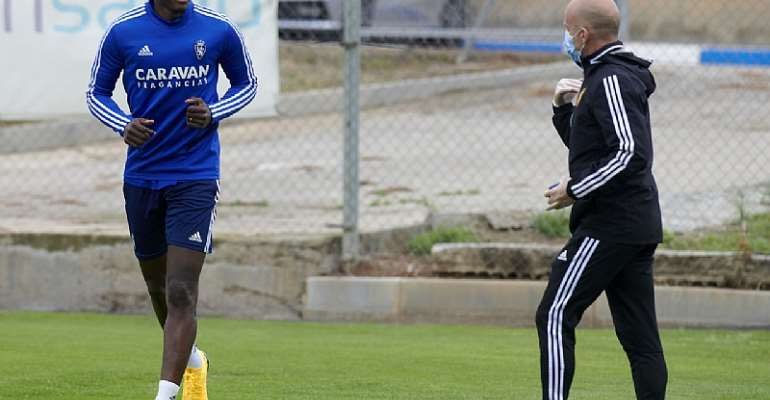 Striker Raphael Dwamena Return To Training After Recovering From Heart Problem [PHOTOS]
