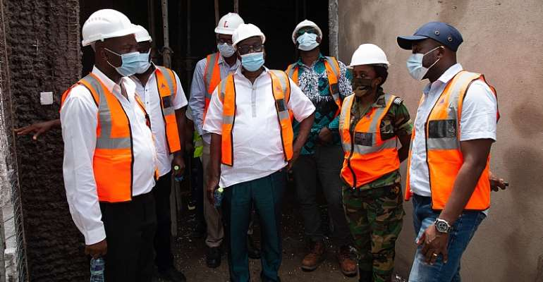GNPC Boss Happy With Progress As He Tours Infectious Disease Isolation And Treatment Centre