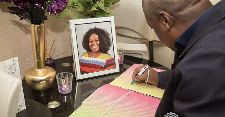 Mahama Visits Late Louisa Nelson Family In UK