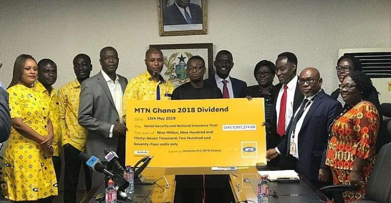 MTN Ghana Pays GHS 9.94m Dividends To SSNIT