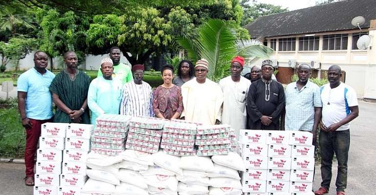 Hon Dr Zanetor with Muslims leaders and the items