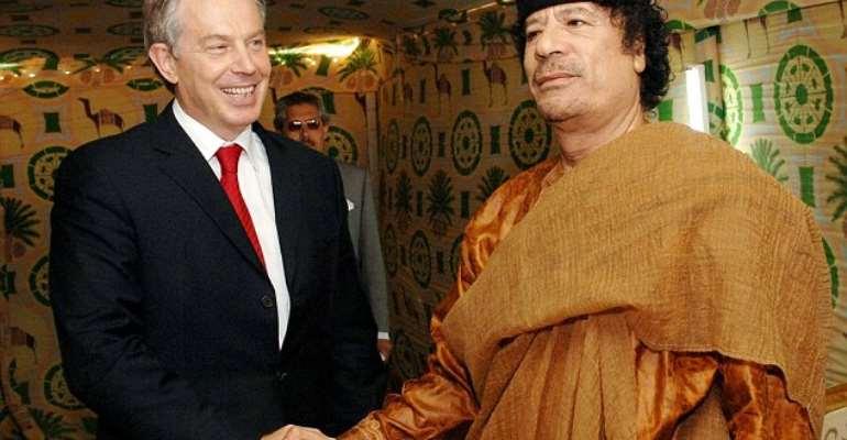 Muammar Gaddafi and Tony Blair