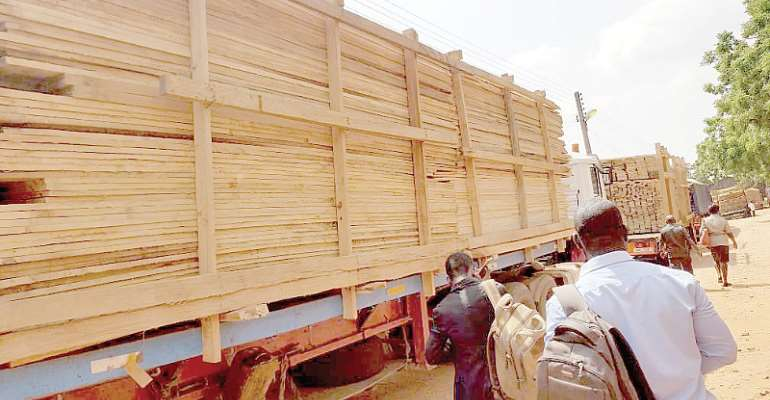 Bono RCC, TIDD Impound 3 Trucks Loaded With Illegal Lumber