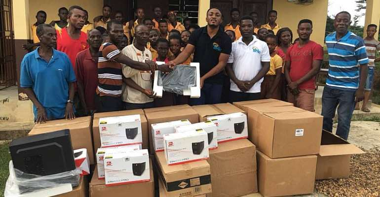 GIFEC's Kofi Asante Donate Computers, Accessories To Institutions In Wassa Amenfi West District