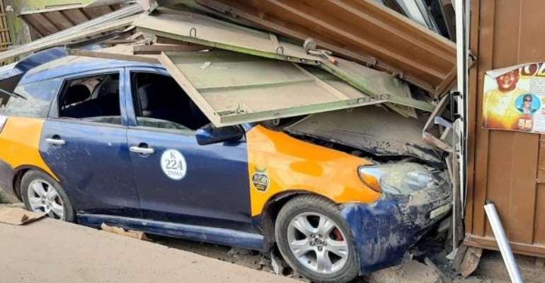 Two Escapes Death In Car Crash At Akyempim