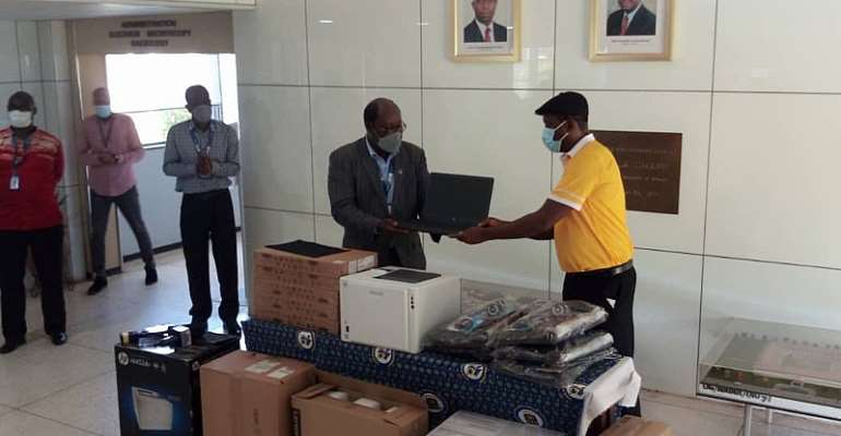 MTN Donate Laptops, Printers, Other Items To Noguchi To Fight Covid-19