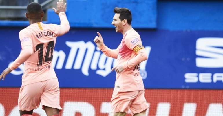 Barca Held By Eibar Despite Messi Double