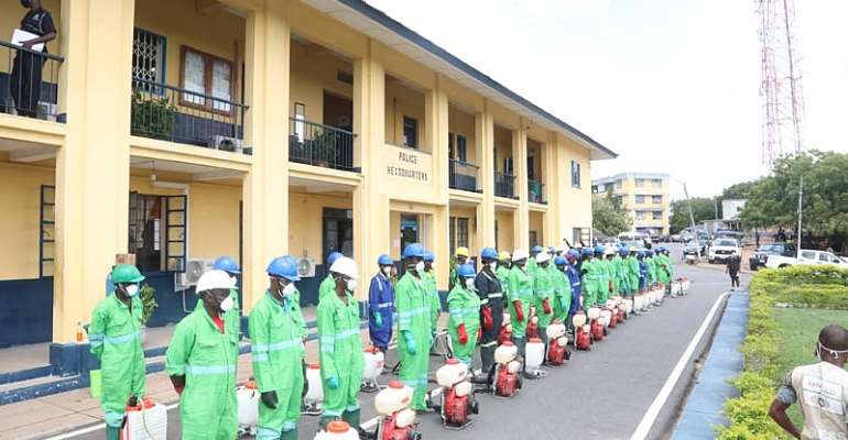 115 Police Stations In Western Region WelcomeZoomlion Disinfection