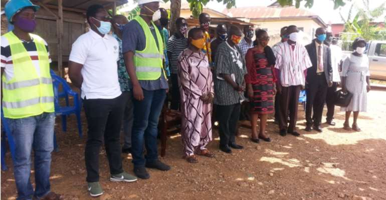 Birim Central MCE Cuts Sod For the Construction Of ICT Centre