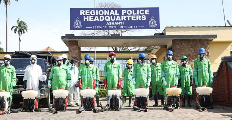 158 Police Facilities In Ashanti Region Set For Disinfection