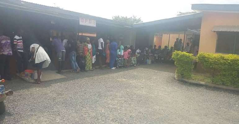 some NHIS Cardholders patients at Suhum hospital