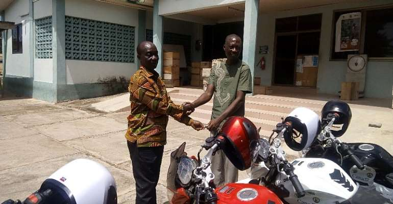 Donkorkrom: Agric Department Gets 17 Motorbikes