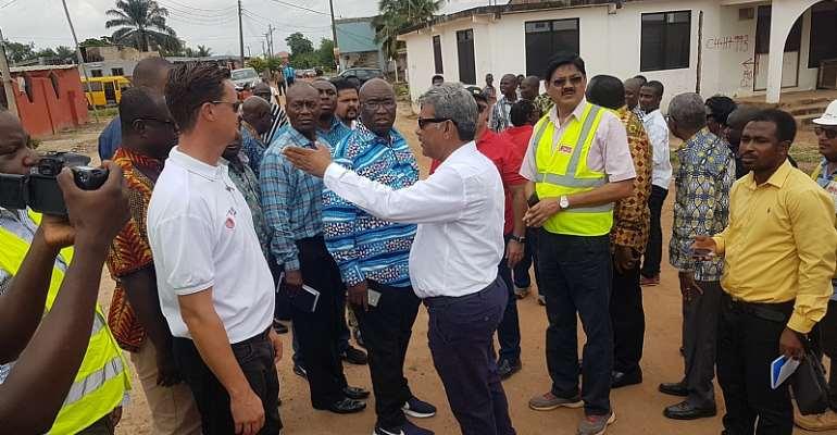 Ministry Of Railway, Ghana Railway Company Visit Ongoing Tema-Mpakadan Construction Site