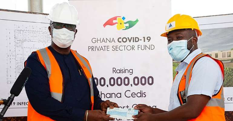 The Grand Lodge Of Ghana Donates GHC100,000 To Support Covid-19 Isolation And Treatment Facility