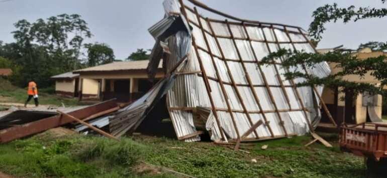 Rainstorm Destroys Osino Health Center, 23 Houses
