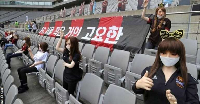 FC Seoul said they did not know the mannequins were adult products