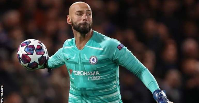 Caballero joined Chelsea on a free transfer from Premier League rivals Manchester City in 2017