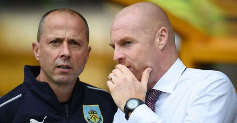 Burnley assistant Ian Woan with manager Sean Dyche  Image credit: Getty Images