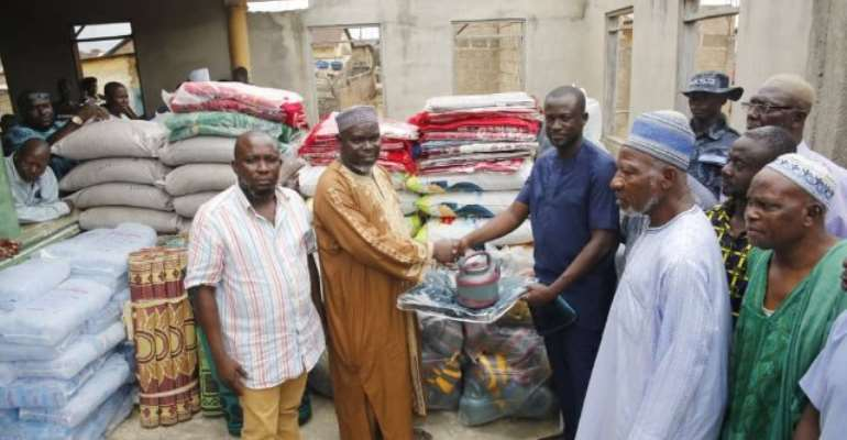Eugene Arhin Donates To Muslims At Awutu Bawjiase