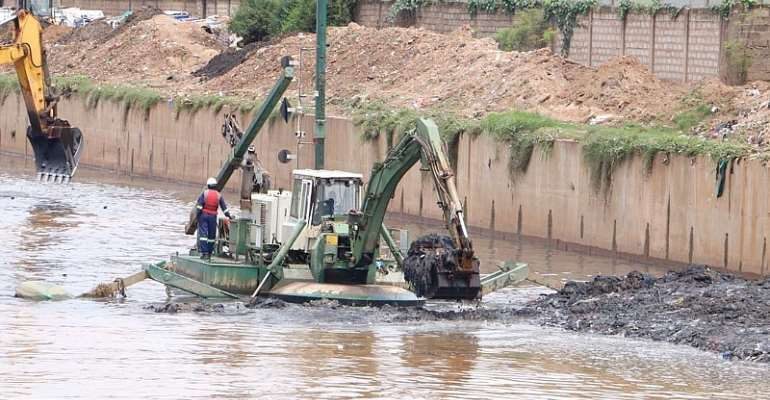 1 Million Waste Materials From Odaw & Korle Lagoon Dredged By Dredge Masters
