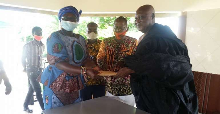 Omanhene Of Sunyani Supports Assembly To Fight COVID-19