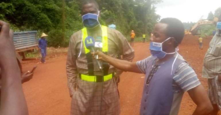 Akontombra MP Inspects On-going Waiwso-Akontombra Road Project