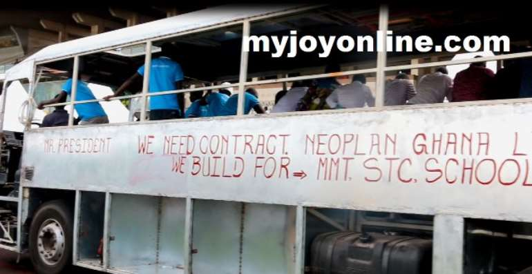 Neoplan Ghana Workers Calls For Immediate Gov't Intervention To Save It From 'Dying'
