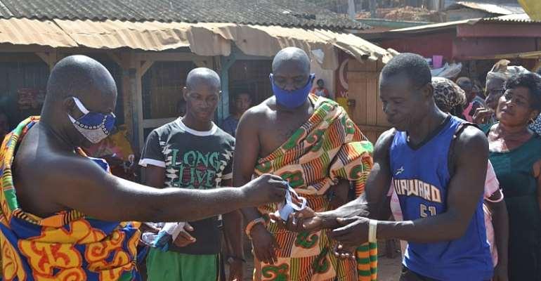 Lower Axim Traditional Authority Donates Nose Masks To Indigenes