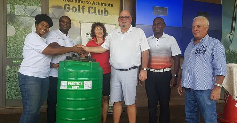 Environment 360 Launches Recycling Project And Donates 20 Bins To Achimota Golf Club