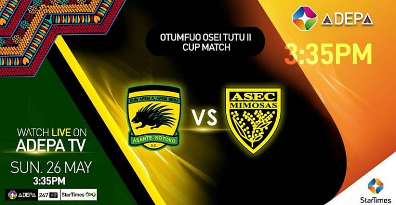 Otumfuo Osei Tutu II Cup: Kotoko-Asec Match To Be Aired On StarTimes