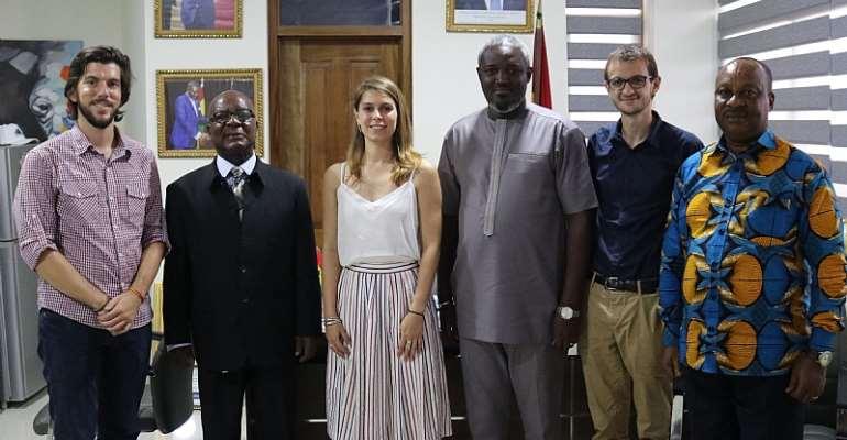 AFD Sport, Development Inspection Mission Meet Deputy Minister