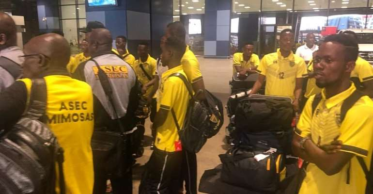ASEC Mimosas Arrive In Ghana For Otumfuo Cup Match With Kotoko