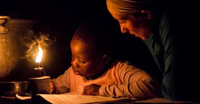 Many rural places in Africa have no access to electricity